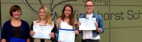Glandorferinnen erhalten Französischdiplom