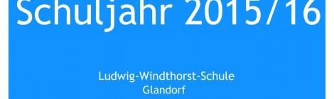 Schuljahr 2015/16 - Los geht's!