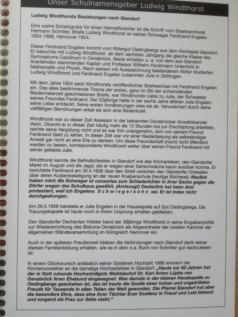 Lus Beziehungen nach glandorf planer 09-10