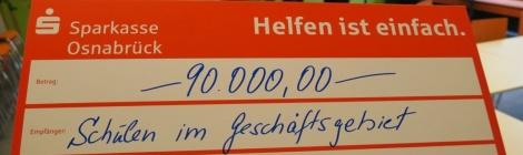90000 Euro für die Schulen in der Region